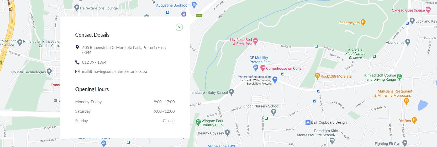 moving-company-pretoria-map